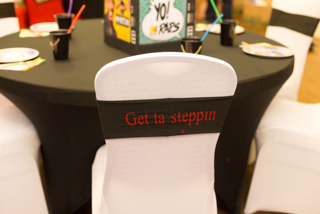 Get Ta Steppin chair decor for 90s themed party