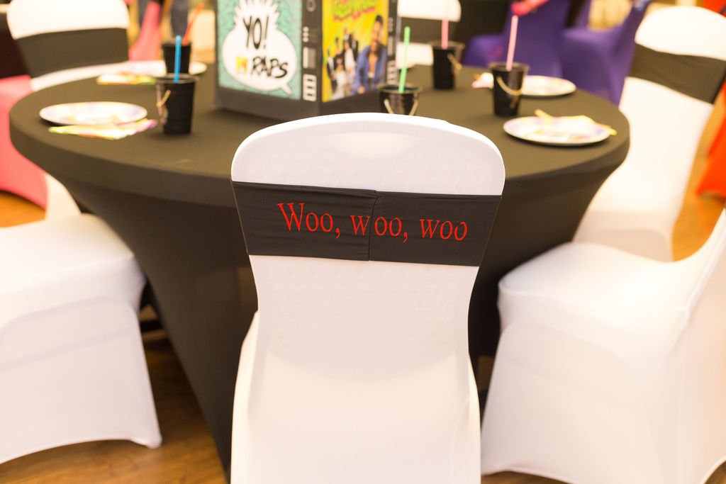 Living Single chair decor for 90s themed party