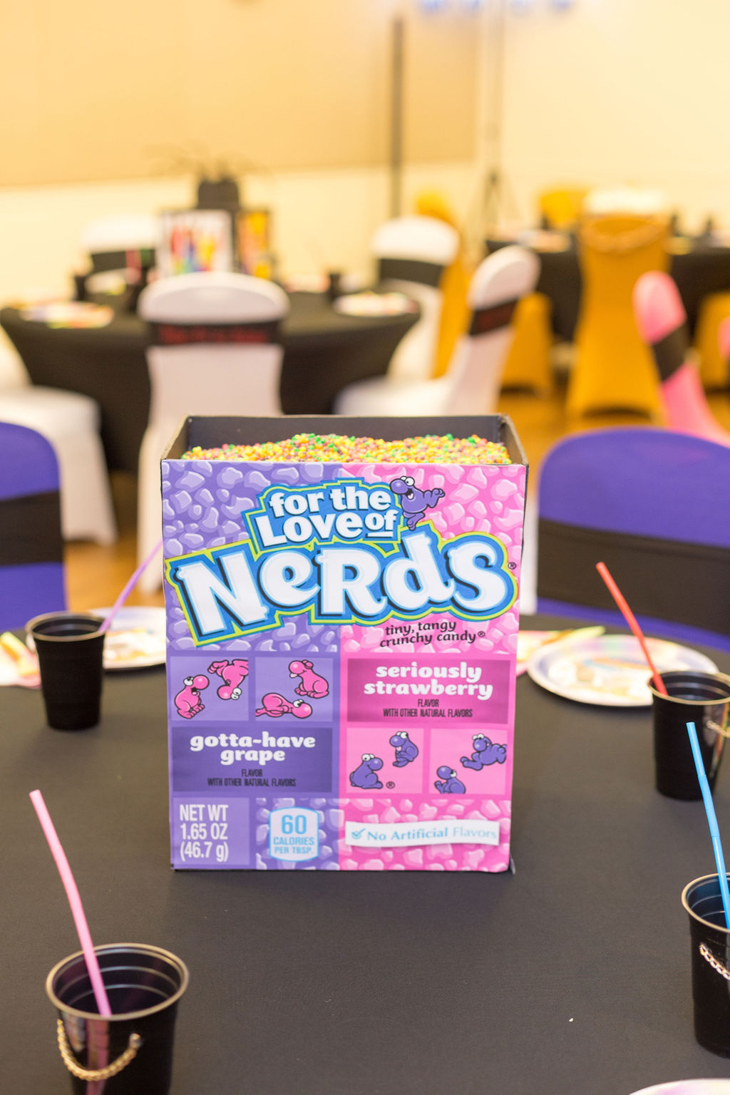 Nerds Candy table centerpiece