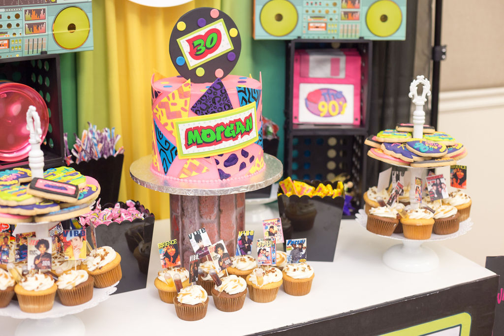90s party themed desserts