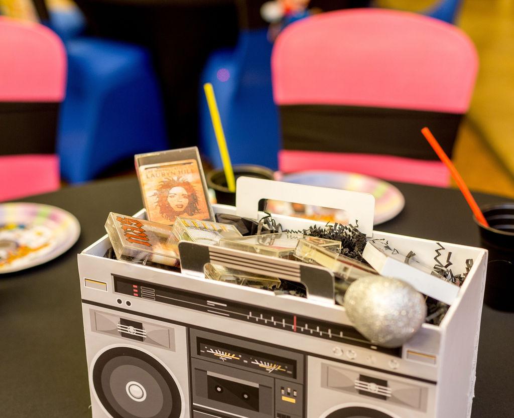 90s music table centerpiece