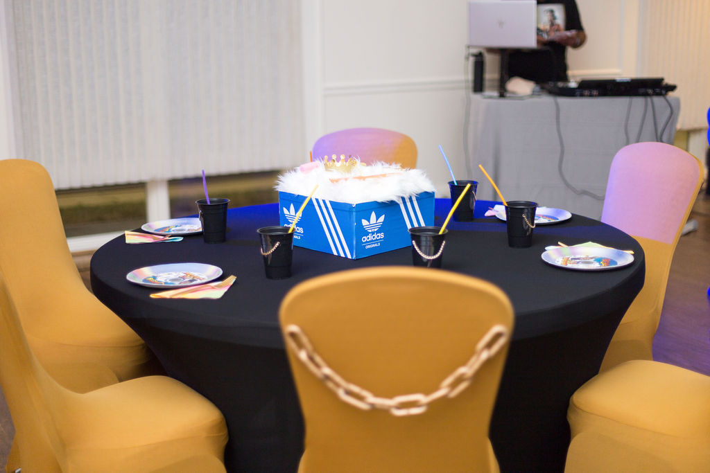 Martin TV Show table centerpiece for 90s themed party
